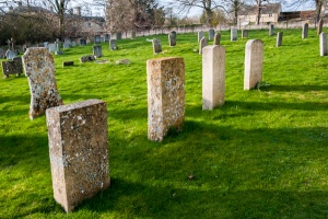 The Mitford graves at Swinbrook...Stock